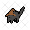 A Witchs Cat Perfect For Halloween Cute Icon