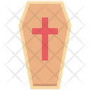 Halloween Casket Dreadful Horrible Icon