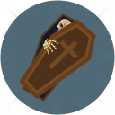 Halloween Coffin Casket Icon