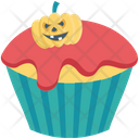 Halloween Cupcake Dessert Muffin Icon