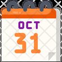 Calendar Halloween October Icon