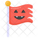 Scary Flag Halloween Flag Flagpole Icon