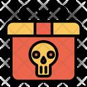 Present Skull Halloween Gift Icon