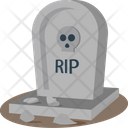 Halloween Gravestone Tombstone Headstone Icon