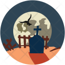 Halloween Graveyard Scary Icon