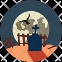 Halloween Graveyard Scary Icon