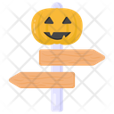 Halloween Signpost Halloween Guidepost Halloween Navigation Icon