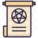 Magic Scroll Scary Icon