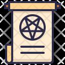 Halloween Magic Scroll Icon
