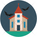 Halloween Mansion Horror Icon