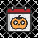Day Halloween Calendar Icon