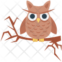 Halloween Owl Scary Dreadful Icon