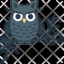 Halloween Owl Scary Dreadful Icon