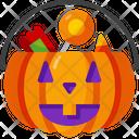 Basket Candies Halloween Icon