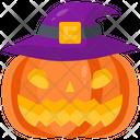 Pumpkin Witch Hat Icon