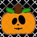 Orange Face Creepy Icon
