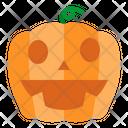 Pumpkin Fear Smiling Icon