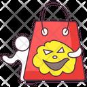 Halloween Shopping Scary Shopping Shopping Bag Icon