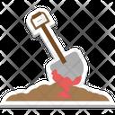 Halloween Spade Bloody Spade Frightening Icon