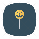 Halloween Stick Skull Icon
