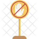 Halt Signboard Stop Sign Icon