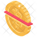 Halving Half Bitcoin Split Bitcoin Icon