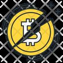 Halving Bitcoin Coin Icon