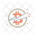 Halving bitcoin Icon