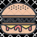 Hamburger Meal Eat Icon