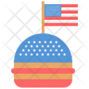 July Independence Fourth Icon