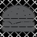 Hamburger Food Bakery Icon