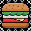 Sandwich Burger Hamburger Icon
