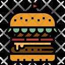 Hamburger Burger America Icon