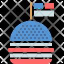 Hamburger Burger Celebration Icon