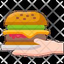 Burger Delivery Food Icon