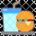 Hamburger Drink Fast Food Icon