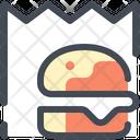 Hamburger Paper Bag Fast Food Icon