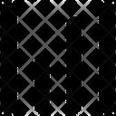 Hamburger Vertical Lines Icon