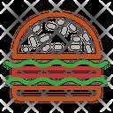 Hamburger Food Stall Icon
