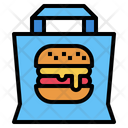 Hamburger Food Delivery Icon