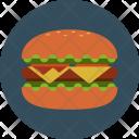 Hamburger Cheeseburger Fastfood Icon
