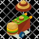 Hamburger stall Icon