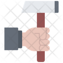 Hand Hammer Building Icon