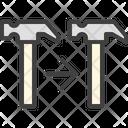 Copy Tool Hammer Icon