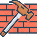 Hammer And Brick Icon
