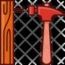 Hammer And Nail Hammer Nail Icon