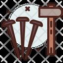 Hammer And Nail Hammer Nails Icon