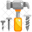 Hammer And Screw Hammering Hammer Tool Icon
