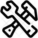 Hammer And Wrench Hammer Wrench Icon
