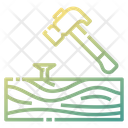 Hammering Woodwork Hammer Icon